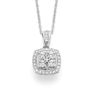 Jewelry - 1/10 CT. T.W. Genuine Diamond Pendant Necklace